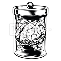 Brain In Jar 1 Vector Clipart