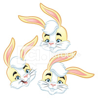 Easter Bunny Head Icons Bundle 2