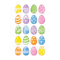 Easter Eggs Vector Clipart Icons