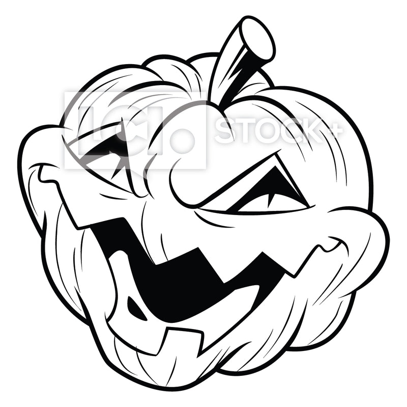 Evil Pumpkin Laughing Vector Clipart