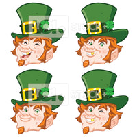 Leprechaun Head Icon Vector Clipart Bundle