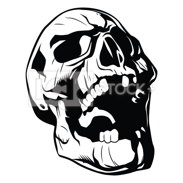Screaming Skull Vector Clipart