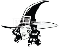 Sexy Witch Head Vector Clipart Icon