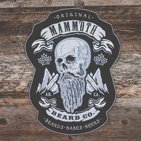 Mammoth Beard Back Patch