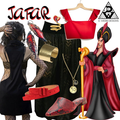 Image of items used to put together a Jafar costume