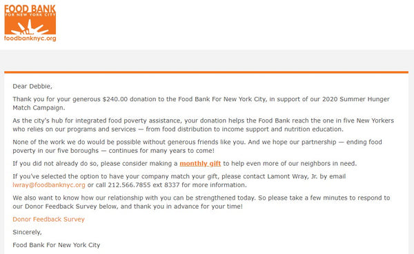 Food Bank of New York