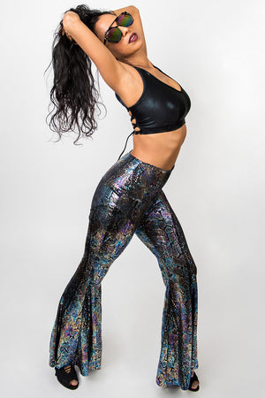 Rainbow Snake Bell Bottom Pant
