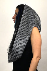 Light Gray Desert Glam Empire (infinity hood scarf)