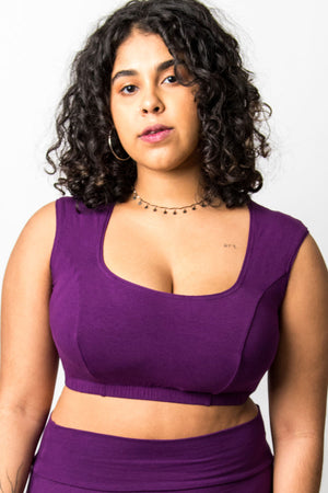 Cleo Purple Cotton Practice Top Sleeveless