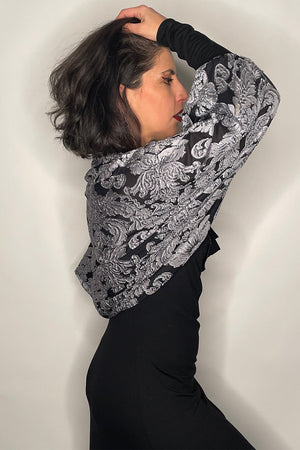 Light Pewter Baroque Bolero / Made-To-Order