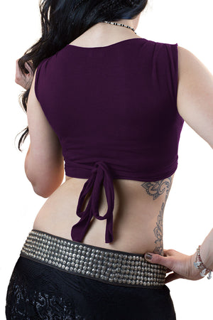 Purple Cotton Wrap Top