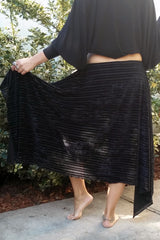Velvet Burnout Classic Skirt