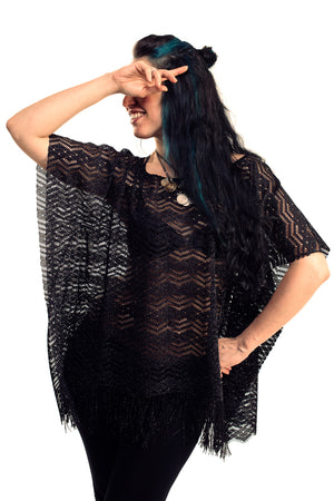 Black Shimmer Dreamcatcher Kaftan