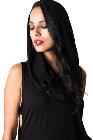 Diamond Black Empire (Hooded Infinity Scarf)