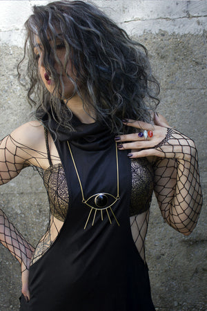 Black Serpent Razor Layering Top / Dress