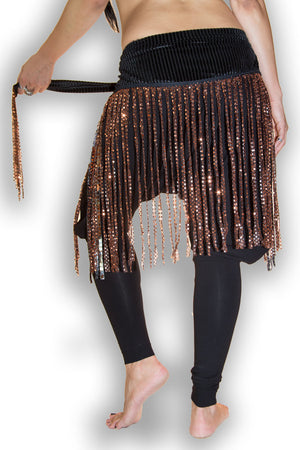 Curvy Copper Saddle Dot Fringe