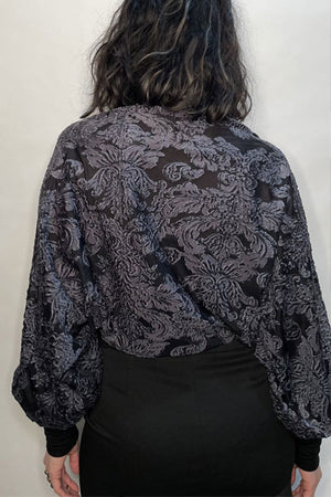 Dark Charcoal Baroque Bolero / Made-To-Order