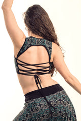 """Cool"" Berber Dot Corset Back Top v. 2.0"