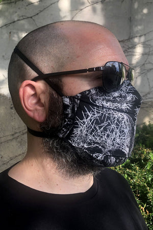 Etching Skulls Face Mask