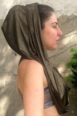 Golden Glam Petite Empire (infinity hood scarf)