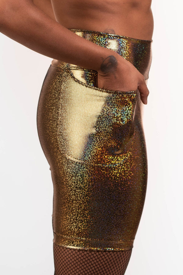The Ultimate Bike Shorts in Gold Holo (Pre Order)