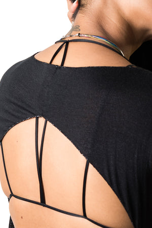 Gunpowder Knit Open Back Layering Top