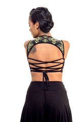 Tribal Neon Corset Back Top v. 2.0
