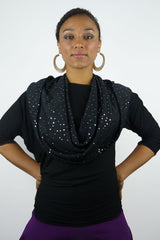 Starry Night Petite Empire (infinity hood scarf)
