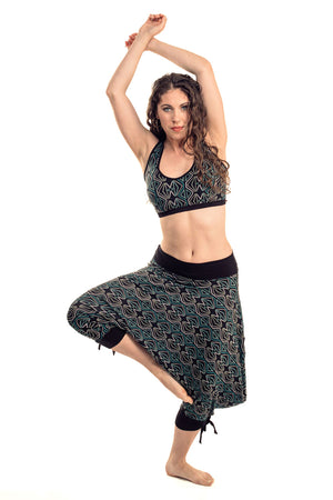 """Cool"" Berber Dot Capri Harem Pants"