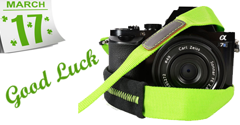 Lucky Green Camera Strap for Saint Patrick's Day Parade