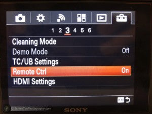 How to set up IR wireless remote shutter release control for