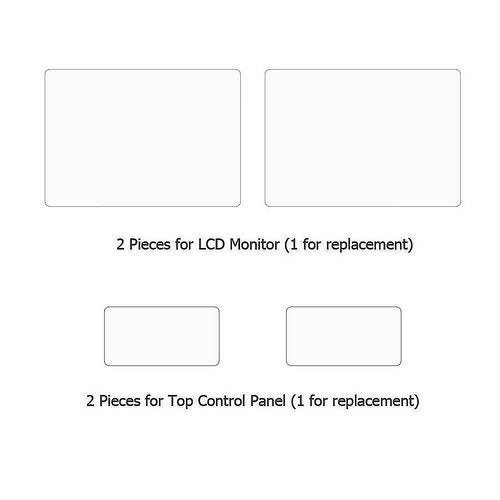 2 Sets Screen Protector Compatible with Canon