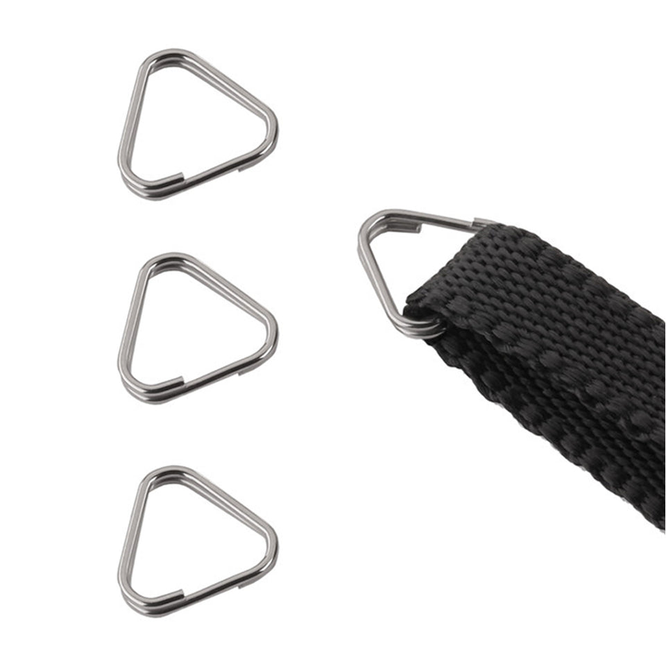 4 Pieces Camera Triangle Split Ring Hook