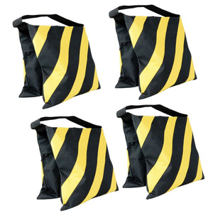 Foto&Tech 4 Pack Heavy Duty Sand Bags w/ Metal Support Yellow