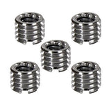 "Foto&Tech 1/4"" to 3/8"" Convert Screw Adapter for Tripod Monopod 5 pcs"