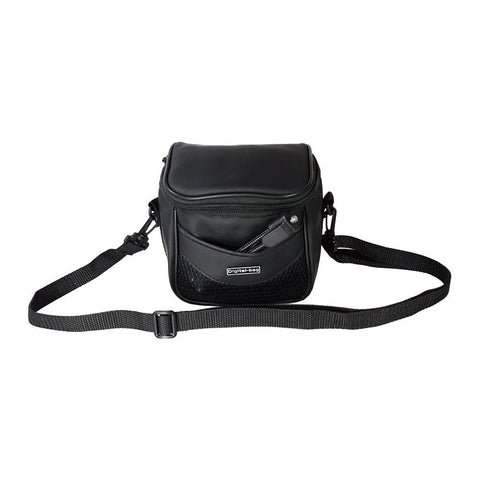 Foto&Tech Faux Leather Camera Bag with strap Compatible with Fujifilm Samsung Sony Olympus Panasonic Canon Nikon Pentax Point-and-Shoot and Compact Cameras