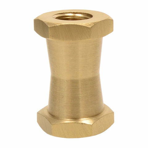 "Foto&Tech Brass Spigot Short Double Female Stud for Super Clamps with 1/4""-20 & 3/8"" Threads"