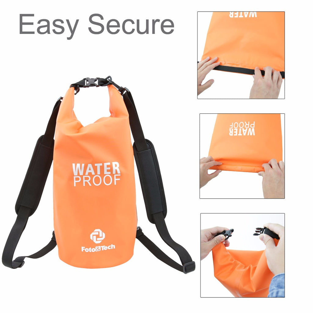 Foto&Tech 10Lt Waterproof Dry Bag Roll Top