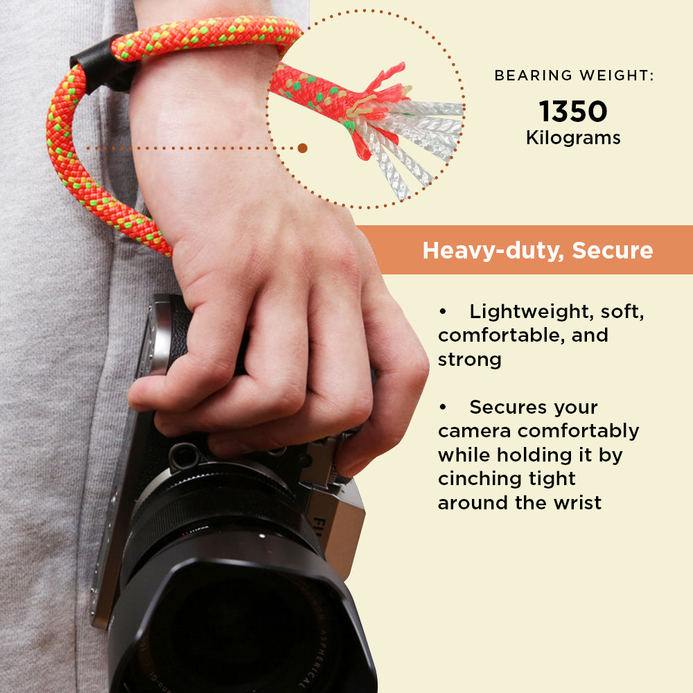 Climbing Rope Wrist Strap Compatible with Fujifilm