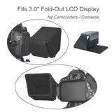 "Foto&Tech 3"" LCD Sun Shade Sun Shield Compatible with Canon 80D 70D 60D T6i/T5i/700D T4i/650D T3i/600D PowerShot SX60 SX50 HS SX40HS Nikon D5500 D5300 D5200 DSLR Cameras & Camcorders Fold-Out Swivel LCD Screen"