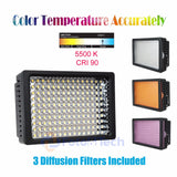Foto&Tech Dimmable 160 LED Panel Video Light Color Temperature