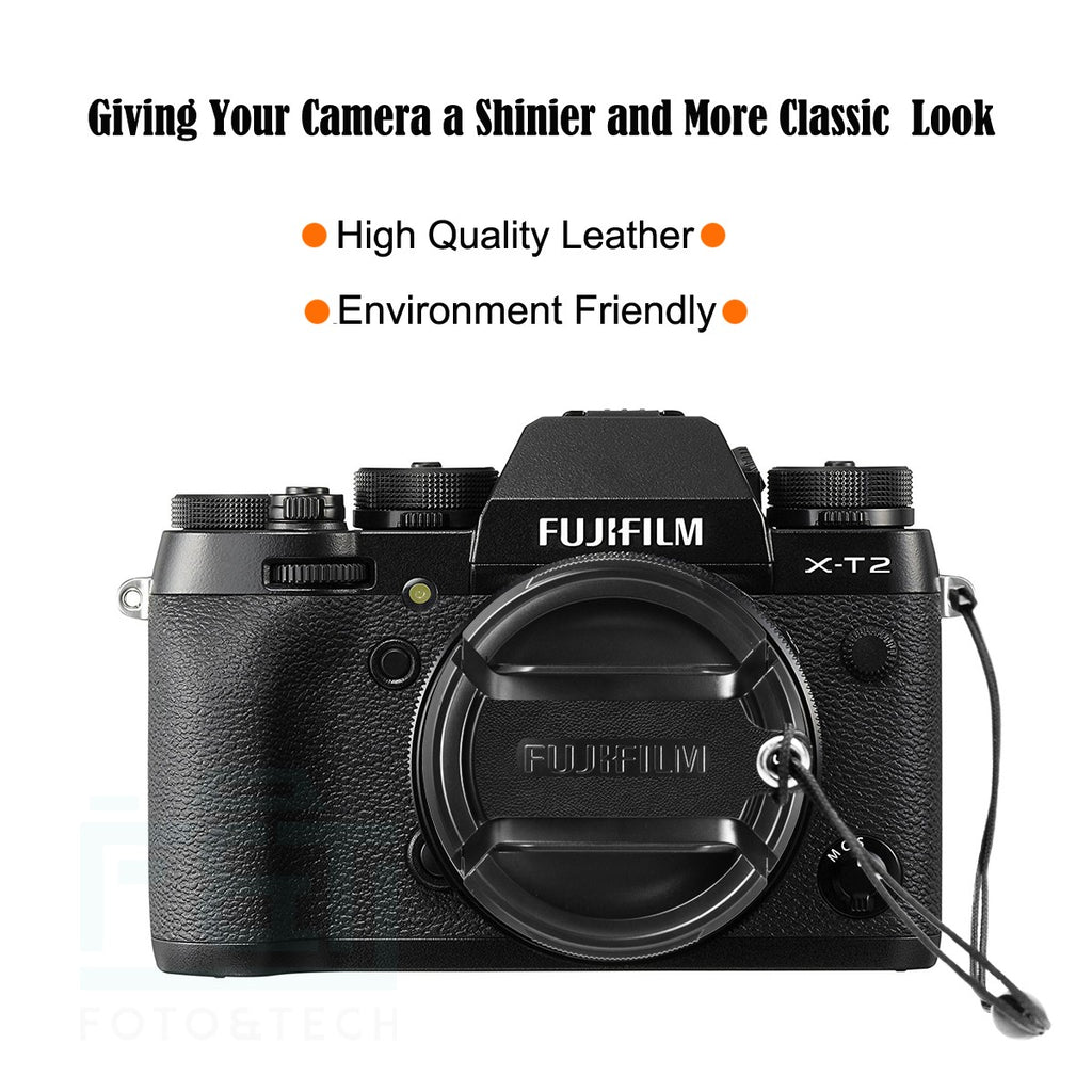 2 Pack Camera Lens Cap Compatible with Fujifilm