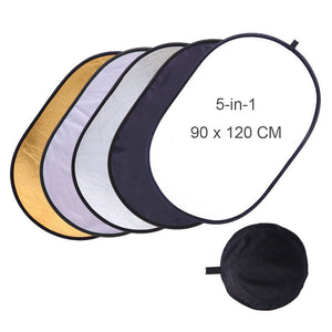Collapsible Light Reflector (Silver Black Gold White)
