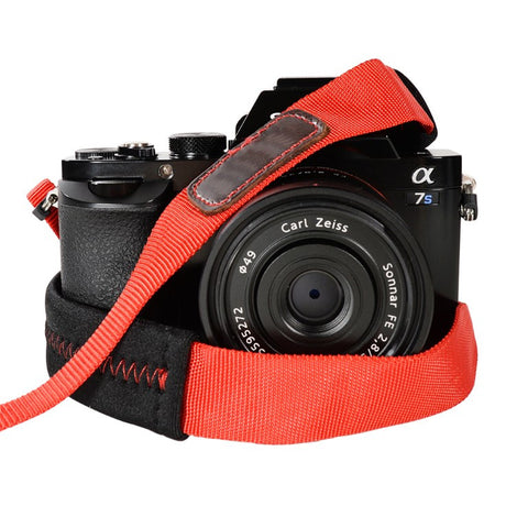 Foto&Tech Padded Camera Strap Red