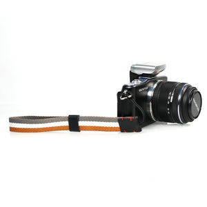 Foto&Tech Multi-Striped Wrist Strap Gray/Orange