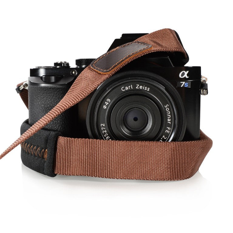 Foto&Tech Padded Camera Strap Brown