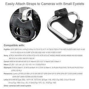 Camera Strap Adapter Triangle Split Ring (4 PCS)