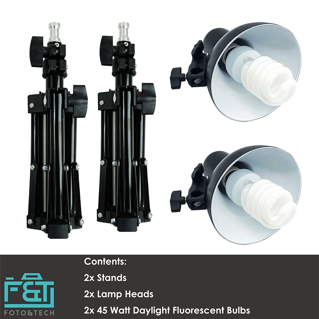2x Metal Lamp Studio Lighting Ki