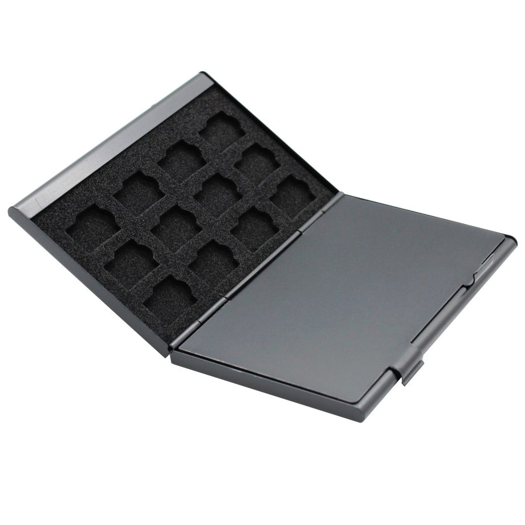 Foto&Tech Black 24-Slot Memory Card Case Open