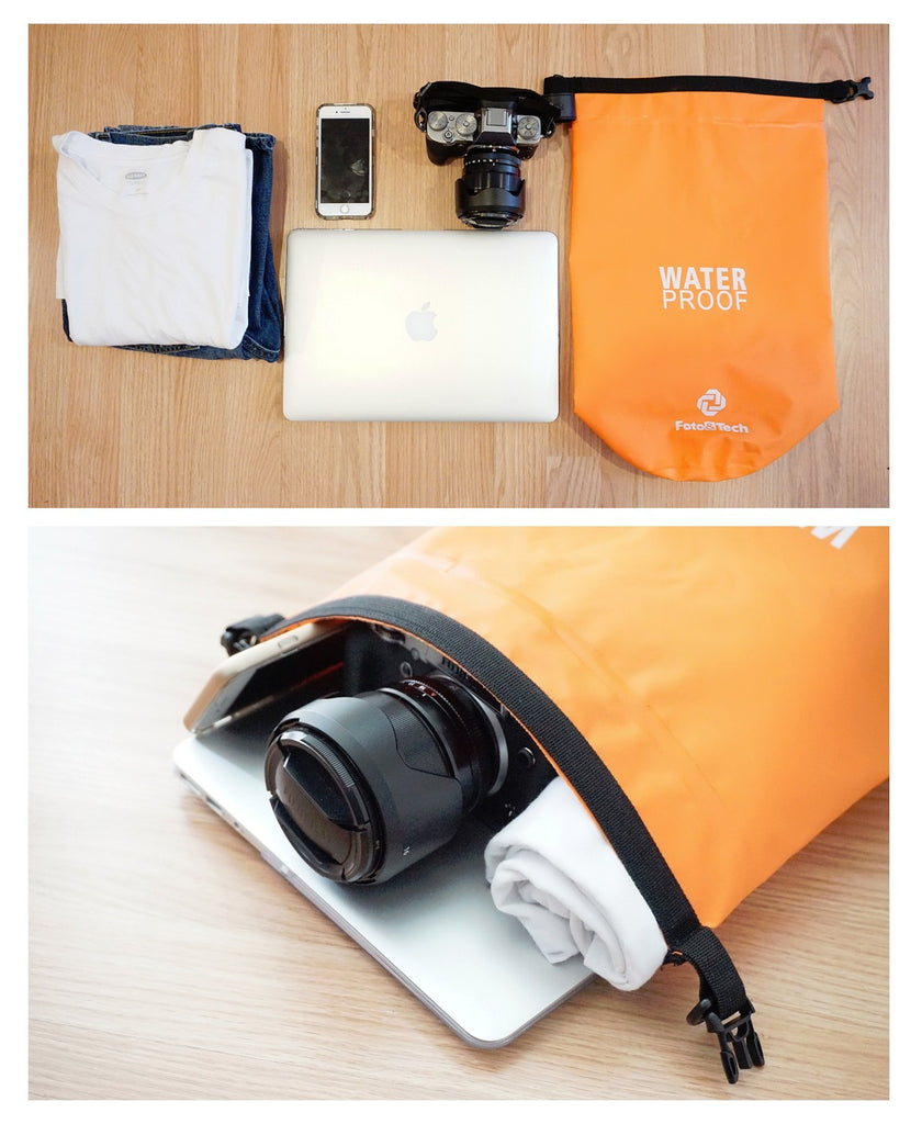 Foto&Tech 10Lt Waterproof Dry Bag Lens Camera Cell Phone